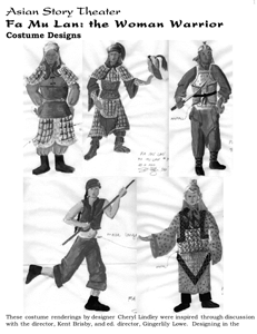 Fa Mu Lan costume designs